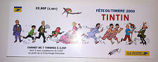 NEUF bloc 7 timbre TINTIN dupont et dupond haddock  2000 CROIX ROUGE FRANCAISE