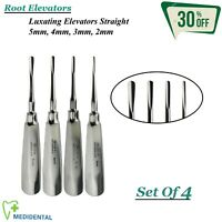 Surgical Root Elevators Luxating Straight Set Of 4