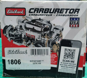 Edelbrock 1806 Thunder Series AVS Carburetor 4v 4bbl 650 CFM Electric Choke SC