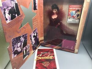 Barbie Doll as Scarlett O'Hara in Red Dress Gown Mattel 12815 Gone with the Wind