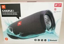 JBL Charge 3 JBLCHARGE3BLKAM Waterproof Portable Bluetooth Speaker (Black) New