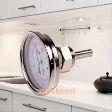 """1/2"""" NPT Stainless Steel Kitchen Oven Grill BBQ Thermometer Temperature Gauge"""