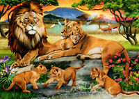 500 Pieces Jigsaw Puzzle Lions & Cubs - Brand New & Sealed