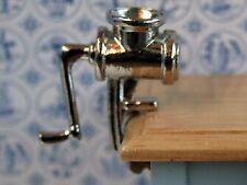 Mincing Machine, Dolls House Miniature Kitchen Accessory, 1.12 Scale