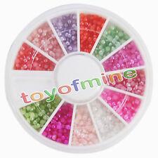 Nuovo Nail Art perla mezza gemme acrilico del manicure della decorazione Wheel