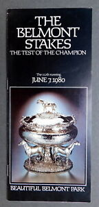1980 BELMONT STAKES Program - GENUINE RISK - CODEX - TEMPERANCE HILL