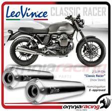 Leovince Classic Racer 2 Terminali inox Moto Guzzi V7 II Stone Special 2015>2016