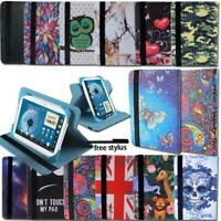 For Samsung Galaxy Tab 2/3/4 Tablet - Folio Leather Rotating Stand Cover Case