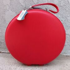 """VTG American Tourister Tiara Red Luggage 16"""" Train Hat Carry-On Round Suitcase"""