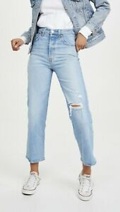 NWT Levi's Ribcage High Waist Straight Leg Ankle Jeans Women 31 x 27 Tango Fade