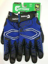 Cutters Adult Rev Receiver Football Gloves (Pair), Royal, Size XXL