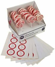 Wilton 24 Pack Pink White Lollipops Candy Favor Birthday Party Celebrations Kit