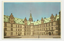 Postcard, Denmark, Elsinore Kronberg, The Courtyard