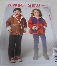 K3957 Kwik sew Childrens Jackets with hood  SZ T1-T4 Uncut Sewing Pattern