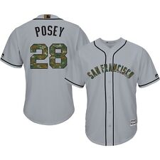 Buster Posey  San Francisco Giants Majestic USMC Memorial Day Cool Base Jersey