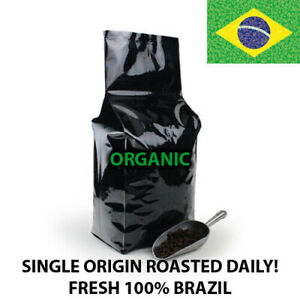 2, 5, 10 LB ORGANIC BRAZIL FRESH ROASTED COFFEE WHOLE BEAN, GROUND - ARABICA