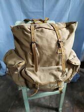Vintage sac backpack rucksack boyscout camping mountain hiking army lafuma