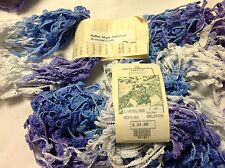 "Great Adirondack yarn ""Ruffles"" braids-Delphinium"