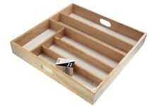 Large Beechwood Wooden Cutlery Tray Drawer Rack Holder Storing Kitchen Cutlery
