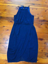 CITY CHIC NAVY BLUE HALTER NECK X OVER FRONT LINED DRESS SIZE: M? BNWOT