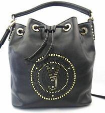Versace Jeans Tasche Beuteltasche Damen schwarz goldfarben Nieten