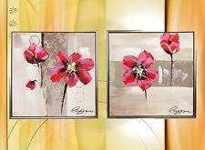 Ölbild Gemälde Mohnblume Leinwand Metall Rahmen Geschenk Zeitgenössische Malerei
