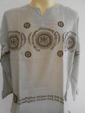 OM Men's T Shirt Hindu India Meditation Light brown GT35 Free Shipping