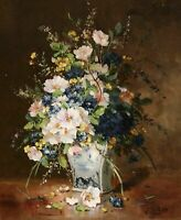'Flowers' Oil Painting, Eugene Henri Cauchois (1850 - 1911) Auctions to $35,000
