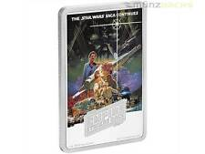 2 $ Dollar Empire Strikes Back Star Wars Poster Niue Island 1 oz Silber PP 2017