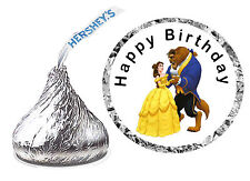 216 Beauty And The Beast Birthday Party Favors Hershey Kiss Labels