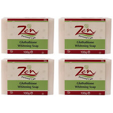 GLUTHATHIONE WHITENING SOAP Organic Pack4 Retards melanin  Anti Bacterial