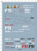 Detail Up 1/100 MG F91 Gundam Model Kit Water Slide Decal