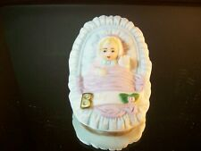 Growing Up Birthday Girls Enesco 1983 Age Baby Blonde Hair Porcelain
