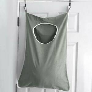 New Hanging Laundry Over the Door Hamper Storage Organiser Clothes Bag + Hooks