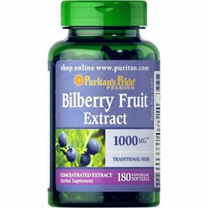 Puritan's Pride Bilberry 1000 mg - 180 Softgels MOTHER'S DAY PROMO