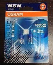 COPPIA LAMPADE OSRAM COOL BLUE INTENSE T10 W5W POSIZIONE 4300K LAMPADINE