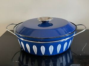 Cathrineholm Blue Lotus Enamelware Casserole Pot