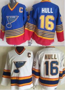 Blues Brett Hull Jersey M, L, XL, 2XL,3XL