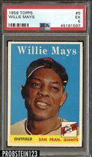1958 Topps #5 Willie Mays San Francisco Giants HOF PSA 5 EX