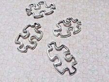 Puzzle Piece Charms Pendant Connectors Antiqued Silver Autism Puzzle Piece Charm