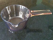 Corning Vision Easy Pour Saucepan  0.7L Milk Sauces Glass Cookware France Amber