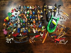 LEGO MINI FIG FIGURE WEAPONS ACCESSORIES VEHICLES ANIMALS LOT BUNDLE 50+ FIGS