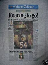 MENS CHICAGO BEARS-2007 SUPER BOWL-# 54-T SHIRT-XL