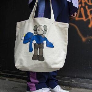 KAWS x Uniqlo Tote Bag White Gone XX Unisex Shoulder 100% Authentic Snoopy