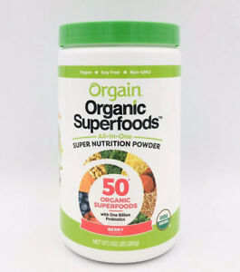 Orgain 50 Organic Superfoods Nutrition Powder BERRY Vegan 280g, EXP 12/2022