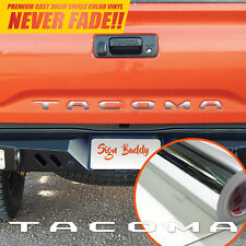 Toyota Tacoma Tailgate Letters Chrome Silver Vinyl Decal 2016-2018 Sticker