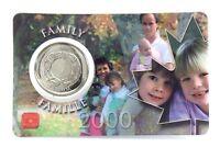 2000 Canada 25 Twenty Five Cent Quarter Family Famille Coin Card RCM H205