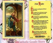 The Good Shepard on front- 23rd Psalm on back - Laminated  Holy Card