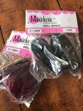 """Mangelsen's Vintage 3 1/8"""" Doll Shoes Lot Of 2 Pairs"""