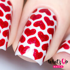 Heart Lines Stencils for Nails, Valentine's Day Nail Stickers, Nail Vinyls